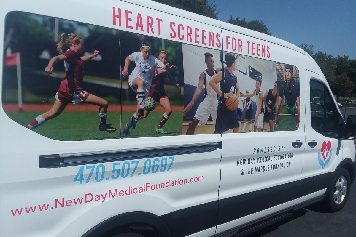 We provide mobile heart screening. We come to you!